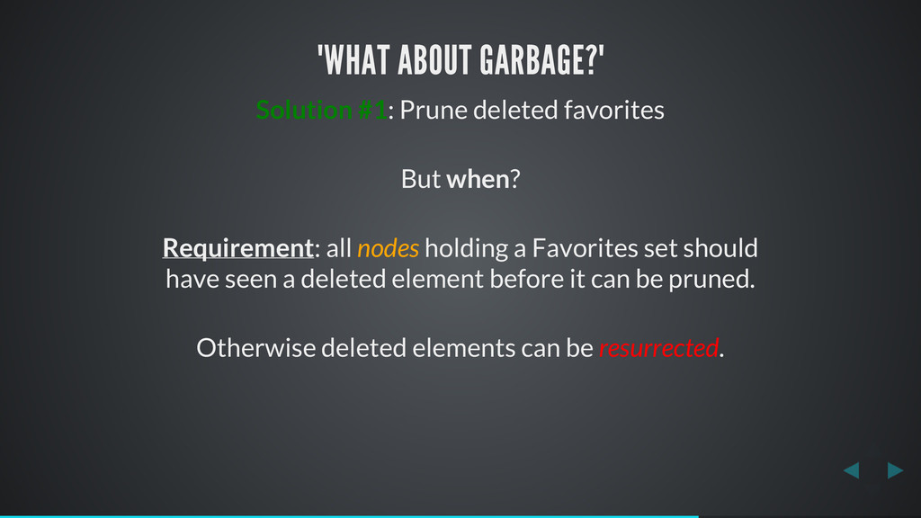 """WHAT ABOUT GARBAGE?"" Solution #1: Prune delete..."