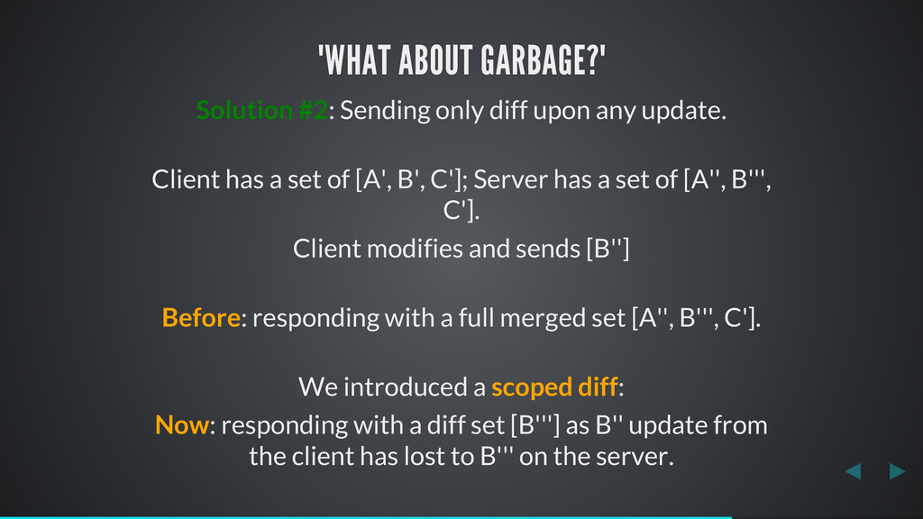 """WHAT ABOUT GARBAGE?"" Solution #2: Sending only..."
