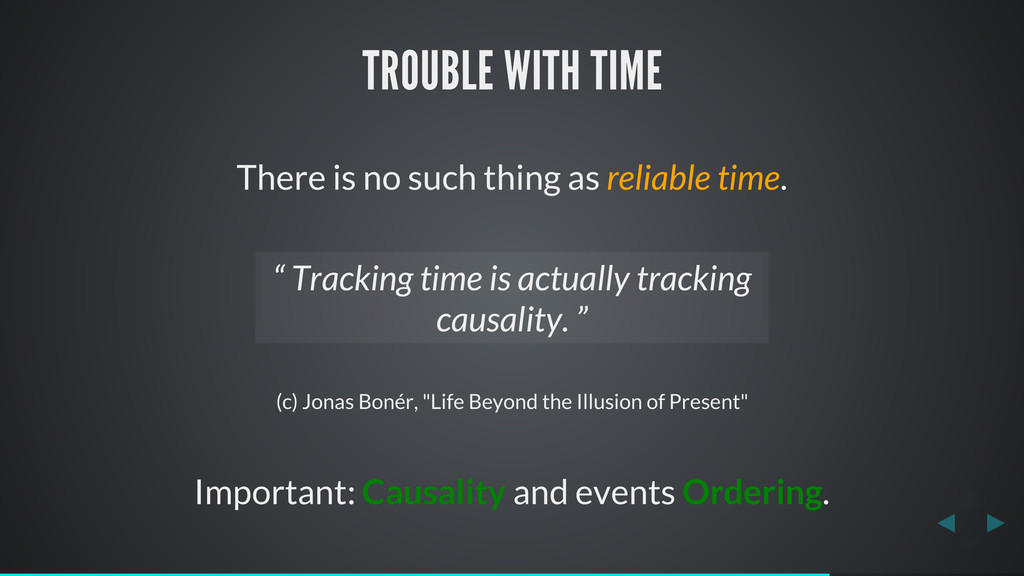 TROUBLE WITH TIME There is no such thing as rel...