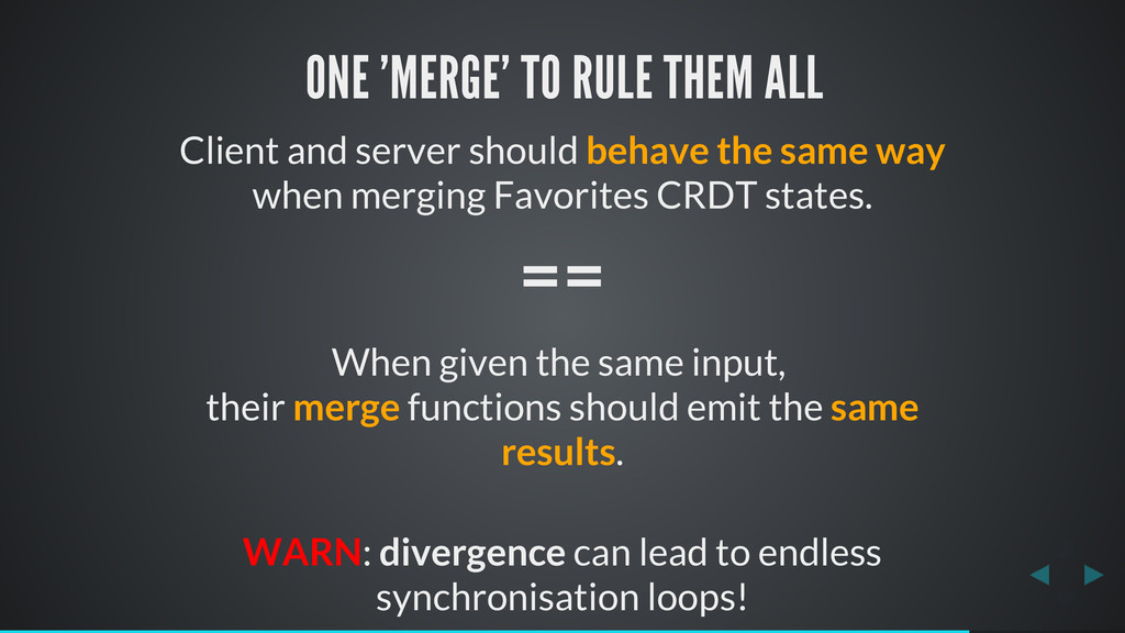ONE 'MERGE' TO RULE THEM ALL Client and server ...