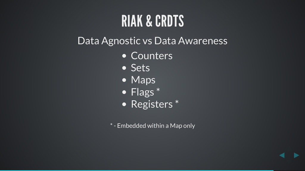 RIAK & CRDTS Data Agnostic vs Data Awareness Co...