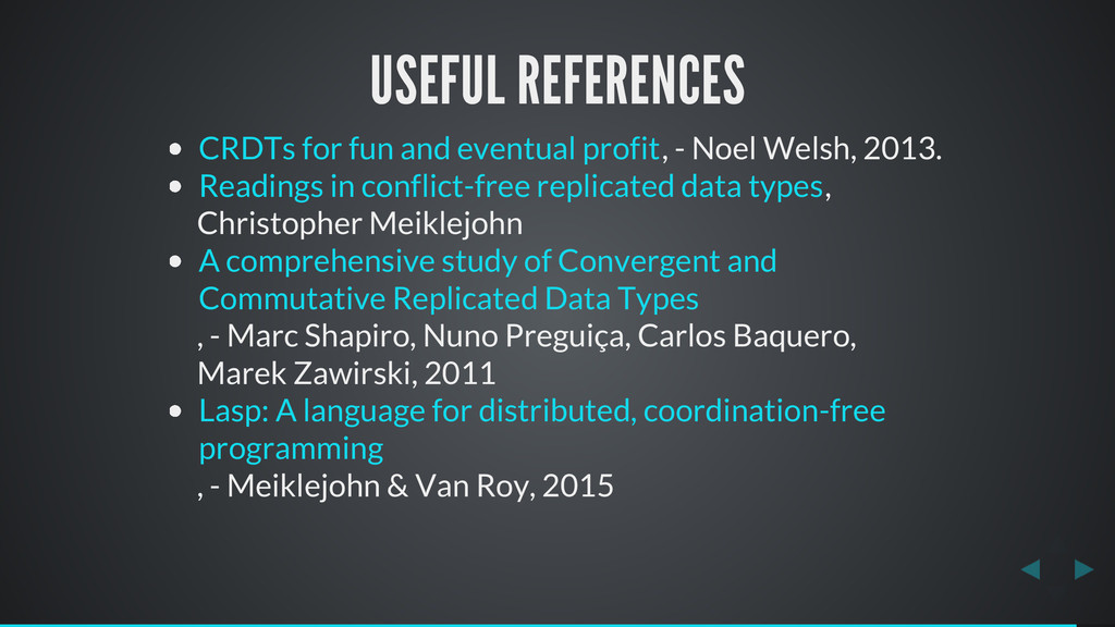 USEFUL REFERENCES , - Noel Welsh, 2013. , Chris...