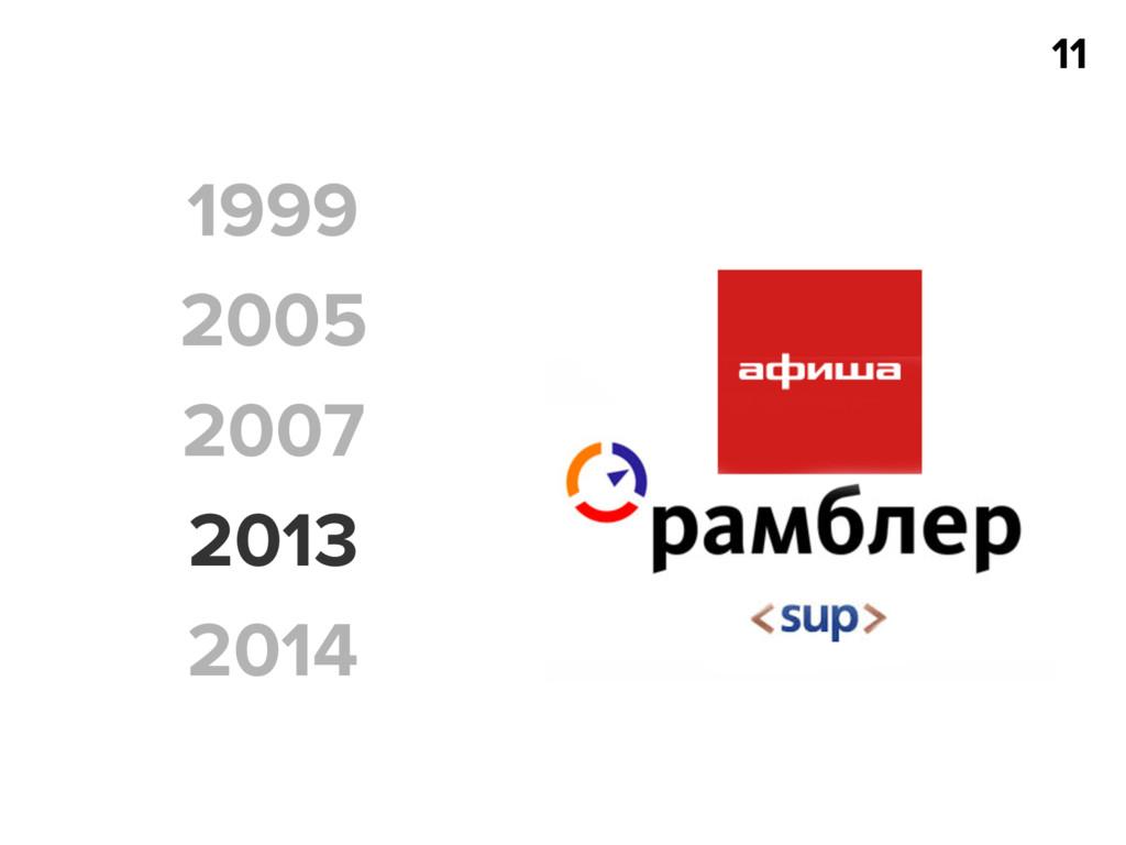 11 1999 2005 2007 2013 2014