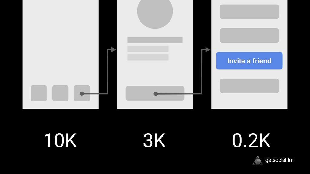 getsocial.im Invite a friend 10K 3K 0.2K