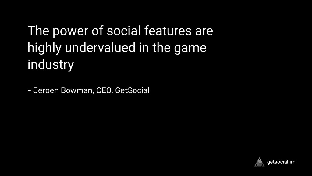 """ The power of social features are highly under..."