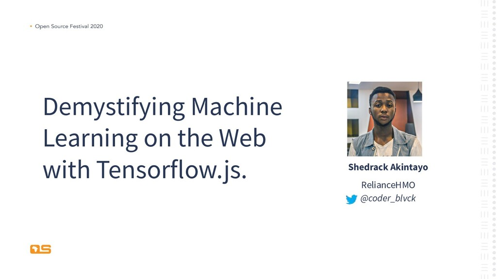Demystifying Machine Learning on the Web with T...