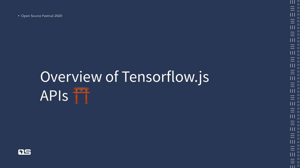 Overview of Tensorflow.js APIs ⛩