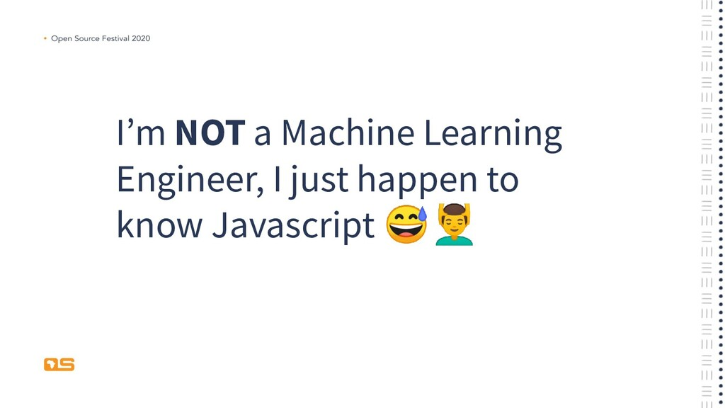 I'm NOT a Machine Learning Engineer, I just hap...