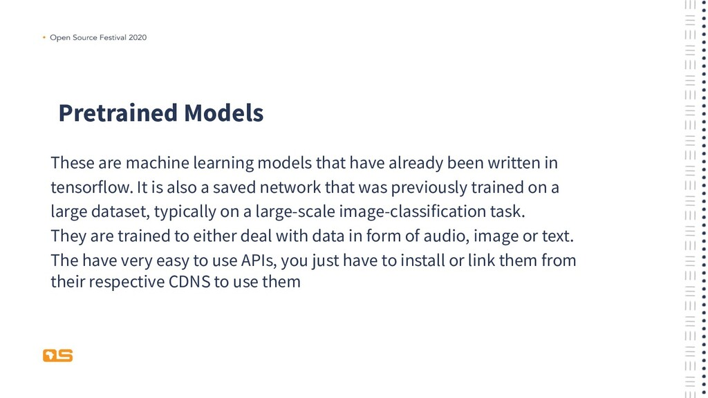 Pretrained Models These are machine learning mo...