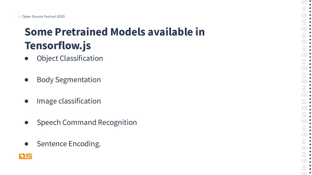 Some Pretrained Models available in Tensorflow....