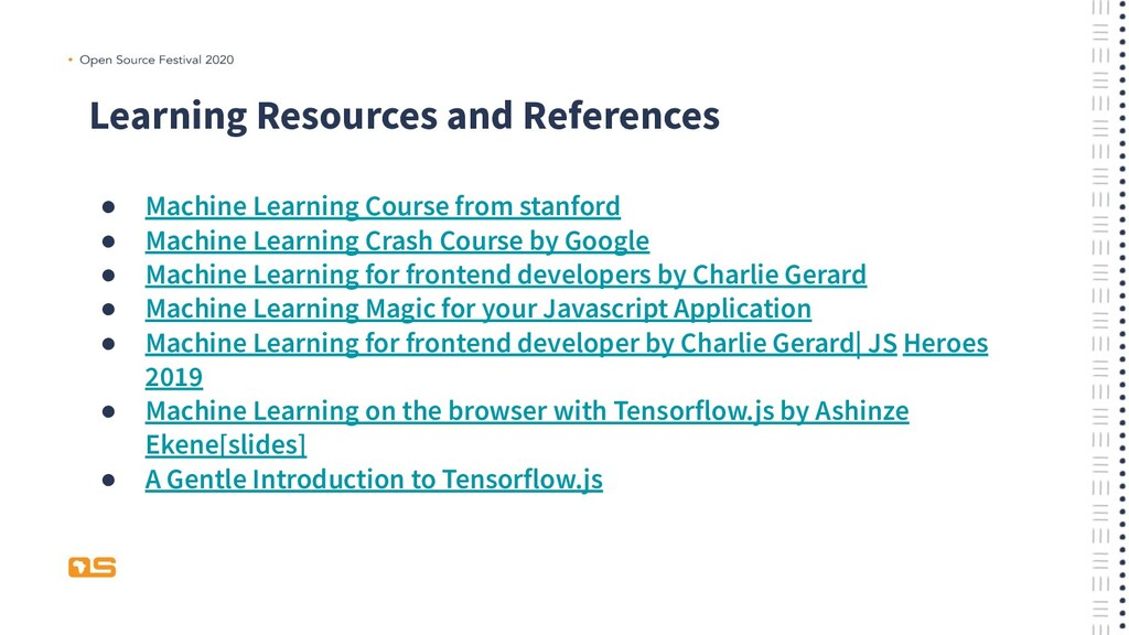 Learning Resources and References ● Machine Lea...