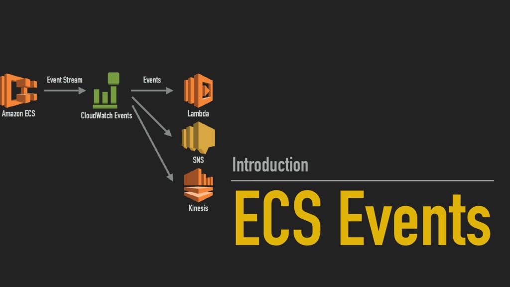 ECS Events Introduction