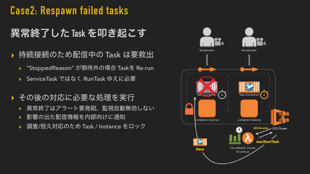 Case2: Respawn failed tasks ҟৗऴྃͨ͠ Task Λୟ͖ى͜͢ ...