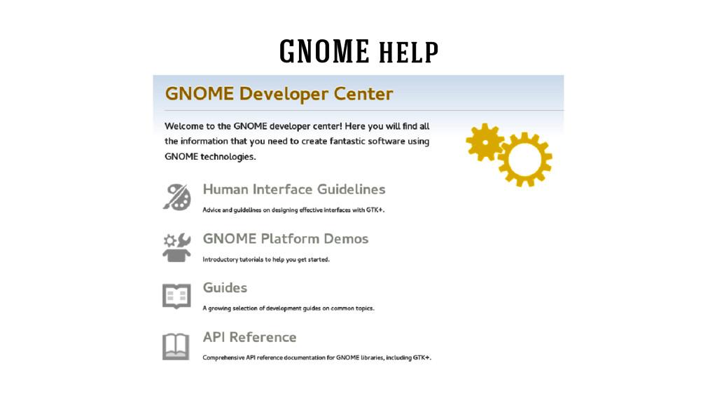 GNOME help
