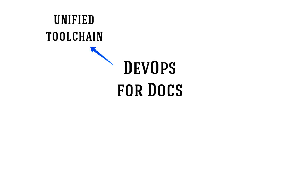 DevOps for Docs unified toolchain