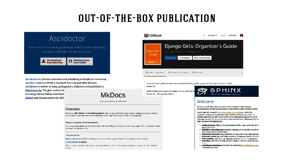 out-of-the-box publication