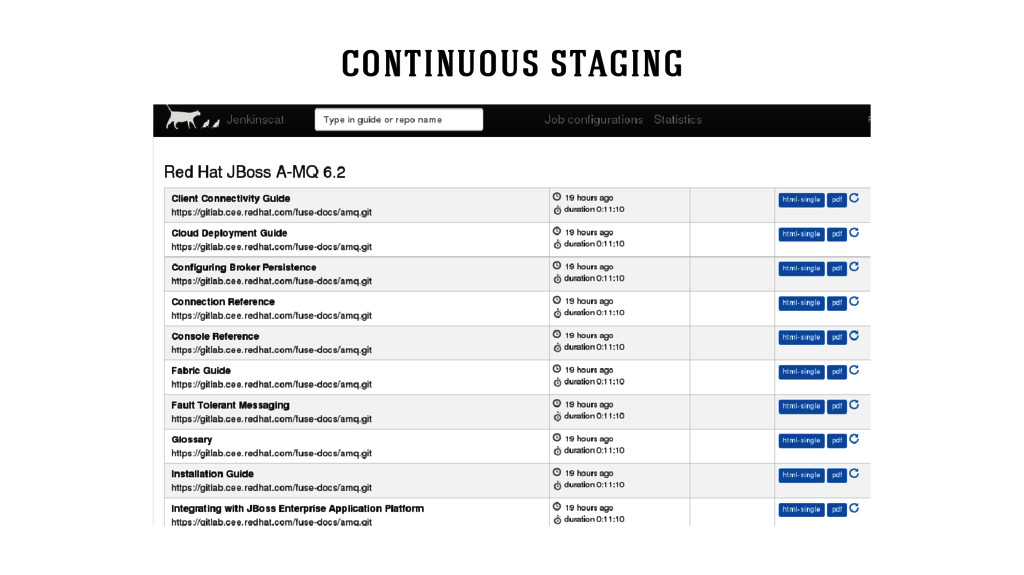 continuous staging