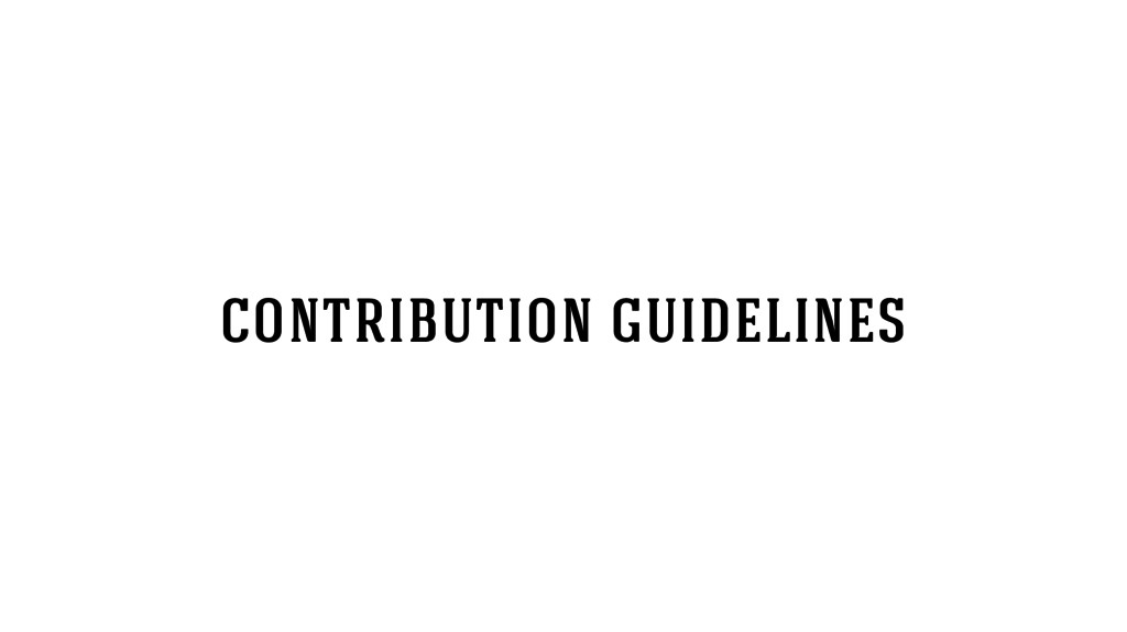 contribution guidelines