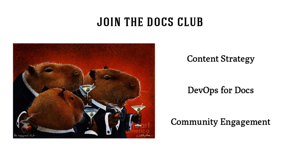 join the docs club Content Strategy DevOps for ...
