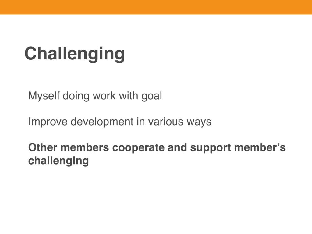 Myself doing work with goal Improve development...