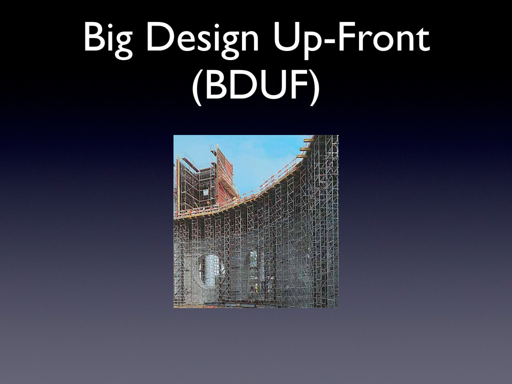 Big Design Up-Front (BDUF)