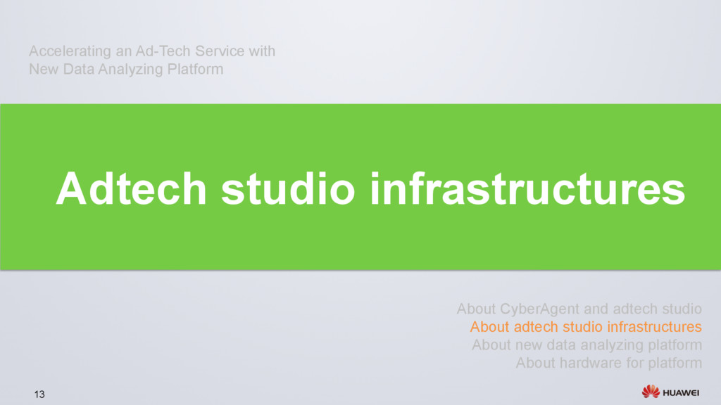 13 Adtech studio infrastructures About CyberAge...