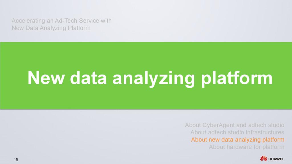 15 New data analyzing platform About CyberAgent...