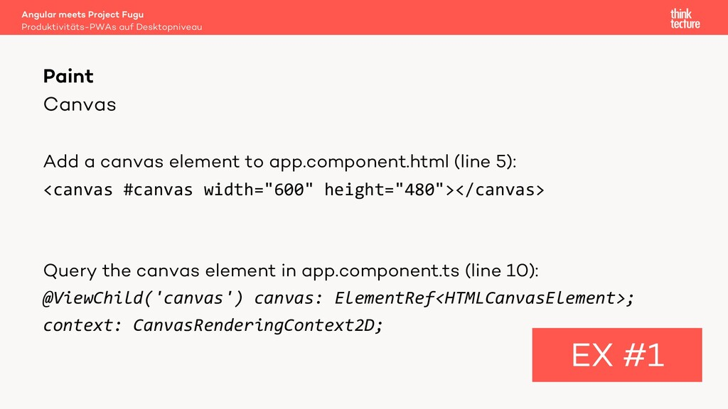 Canvas Add a canvas element to app.component.ht...