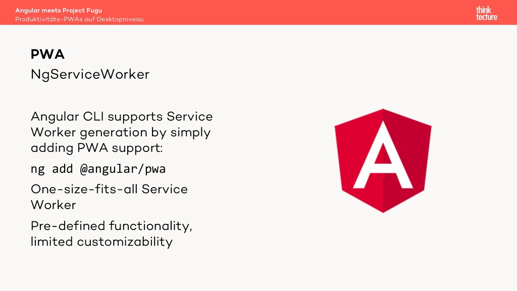 NgServiceWorker Angular CLI supports Service Wo...