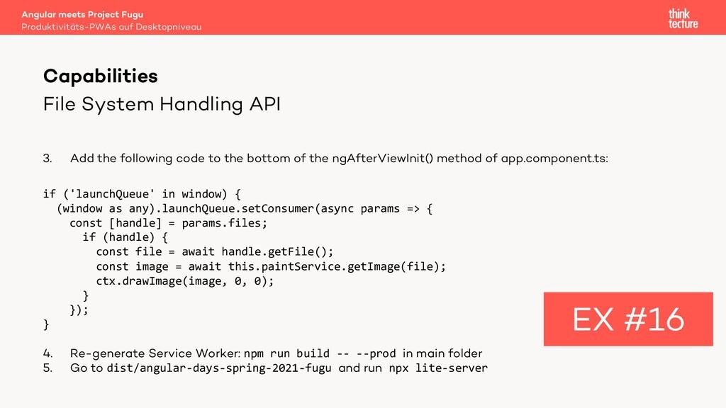 File System Handling API 3. Add the following c...