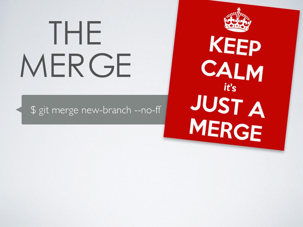 $ git merge new-branch --no-ff
