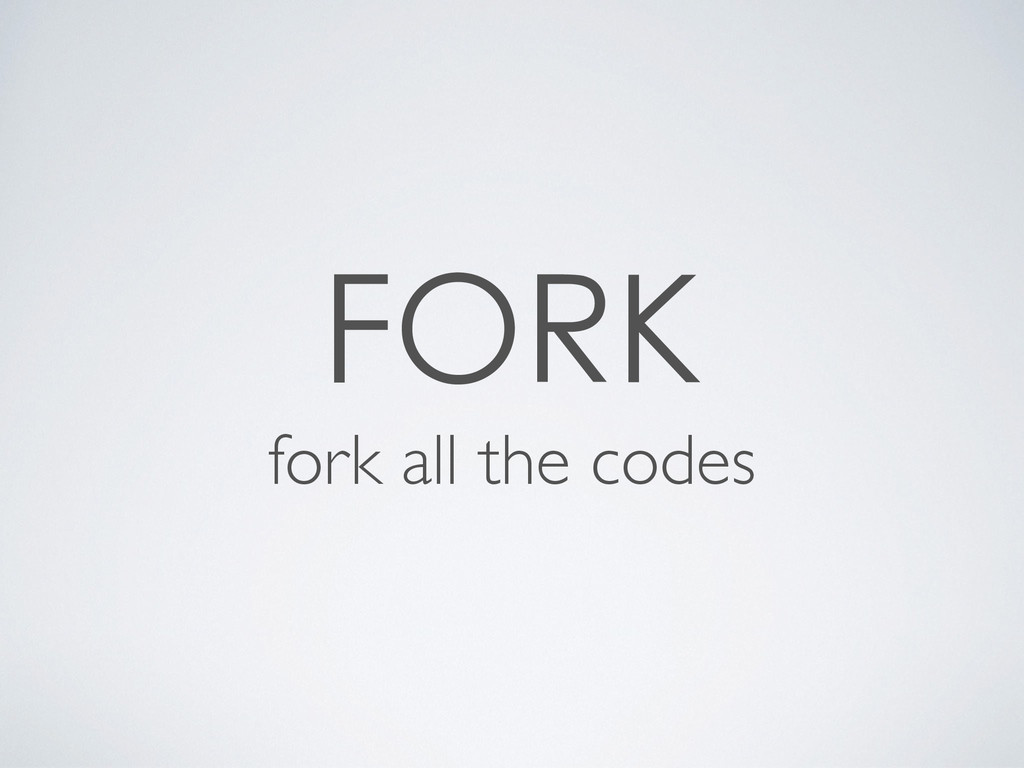 fork all the codes
