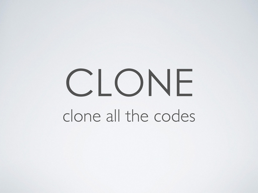 clone all the codes