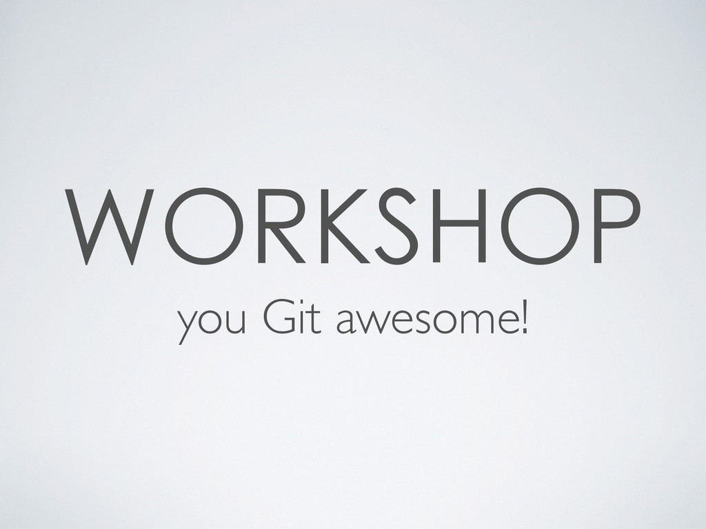 you Git awesome!