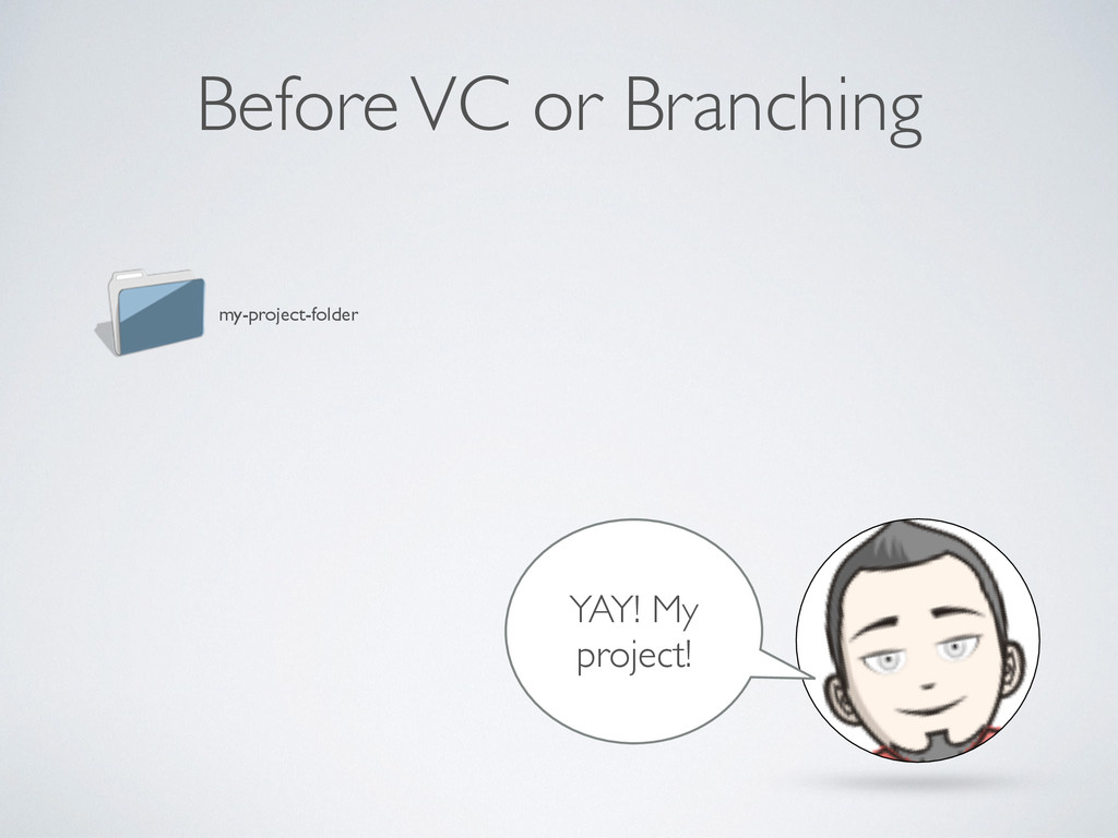 Before VC or Branching my-project-folder YAY! M...