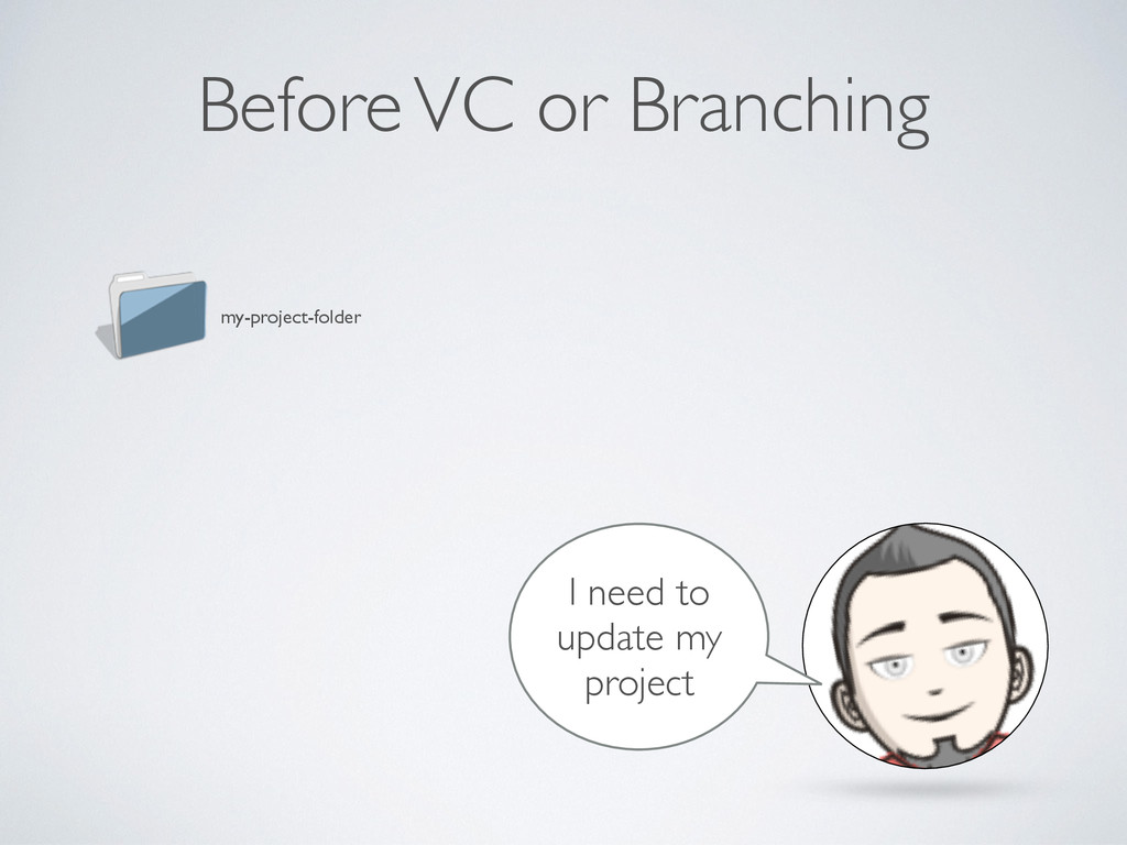 Before VC or Branching my-project-folder I need...