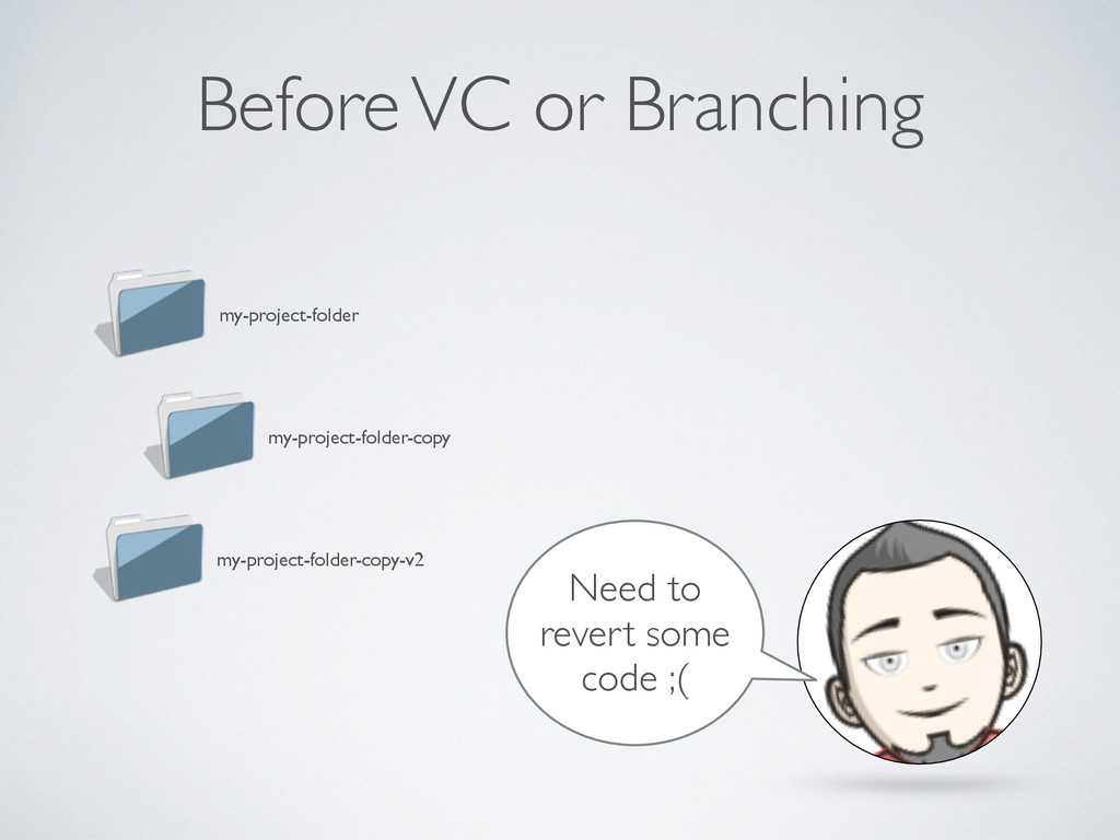 Before VC or Branching my-project-folder my-pro...