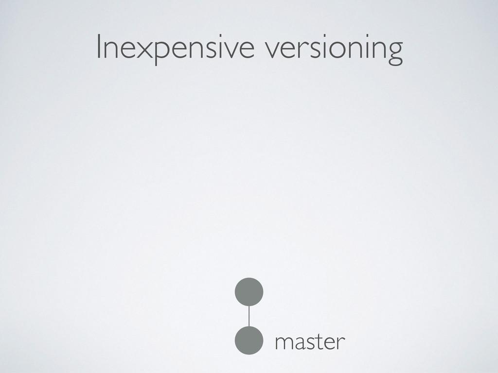 Inexpensive versioning master