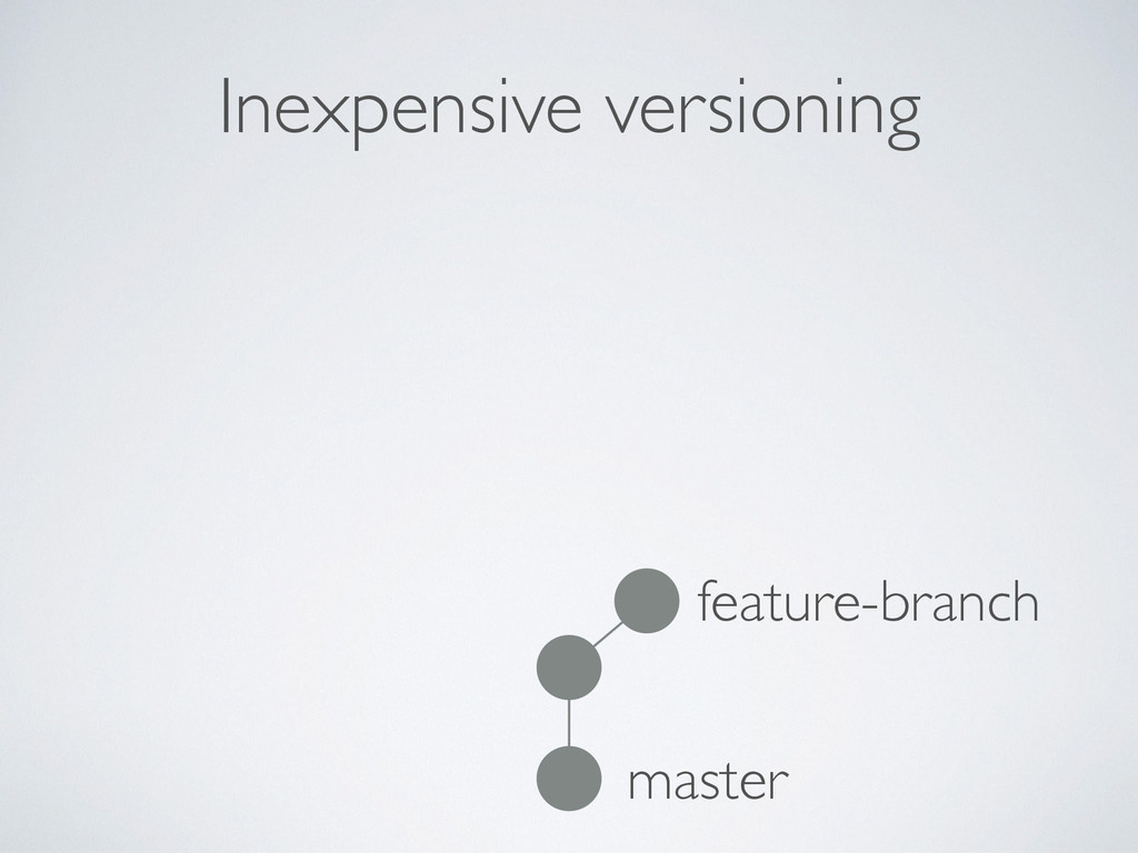 Inexpensive versioning master feature-branch