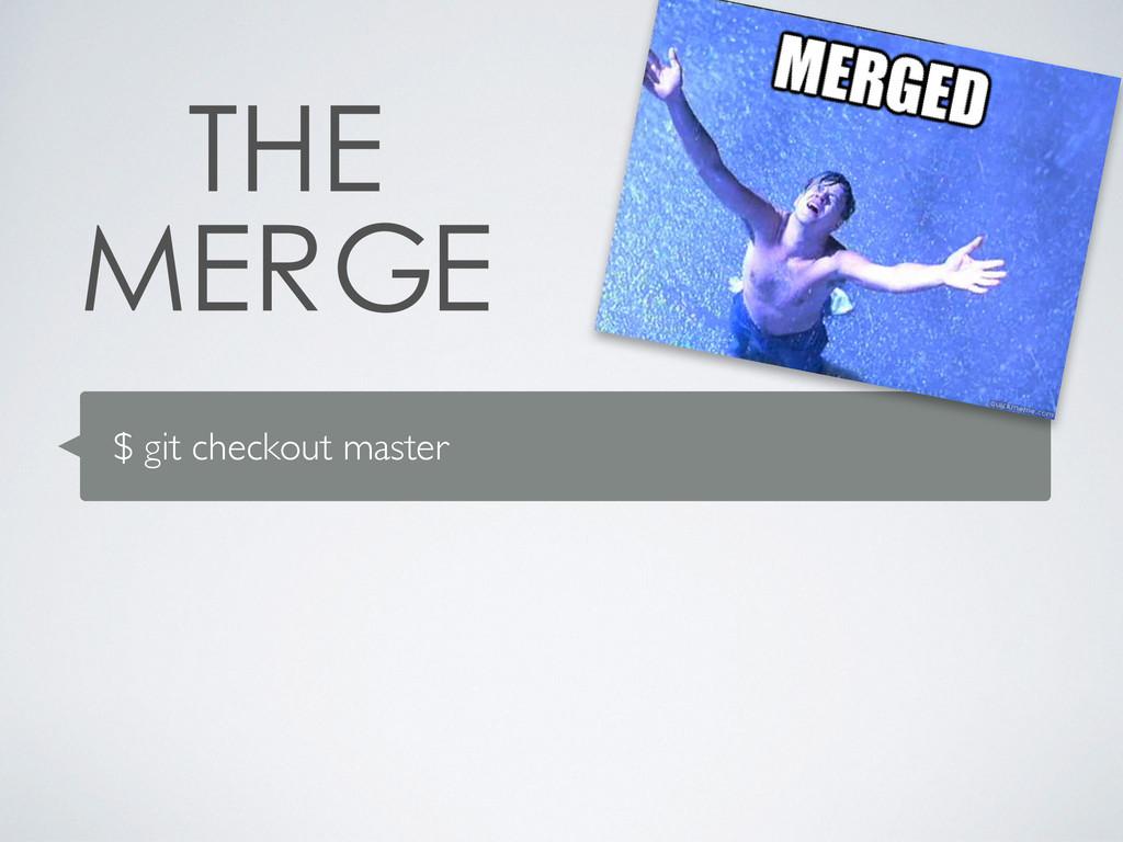 $ git checkout master