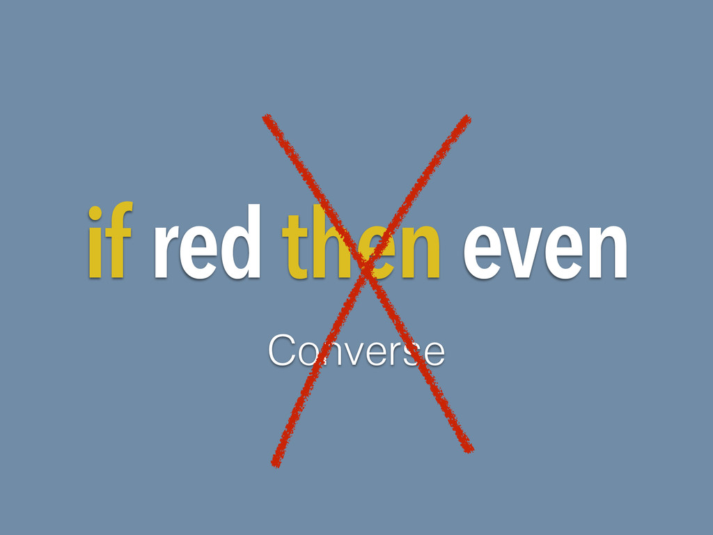 if red then even Converse