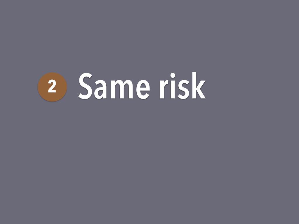 Same risk 2