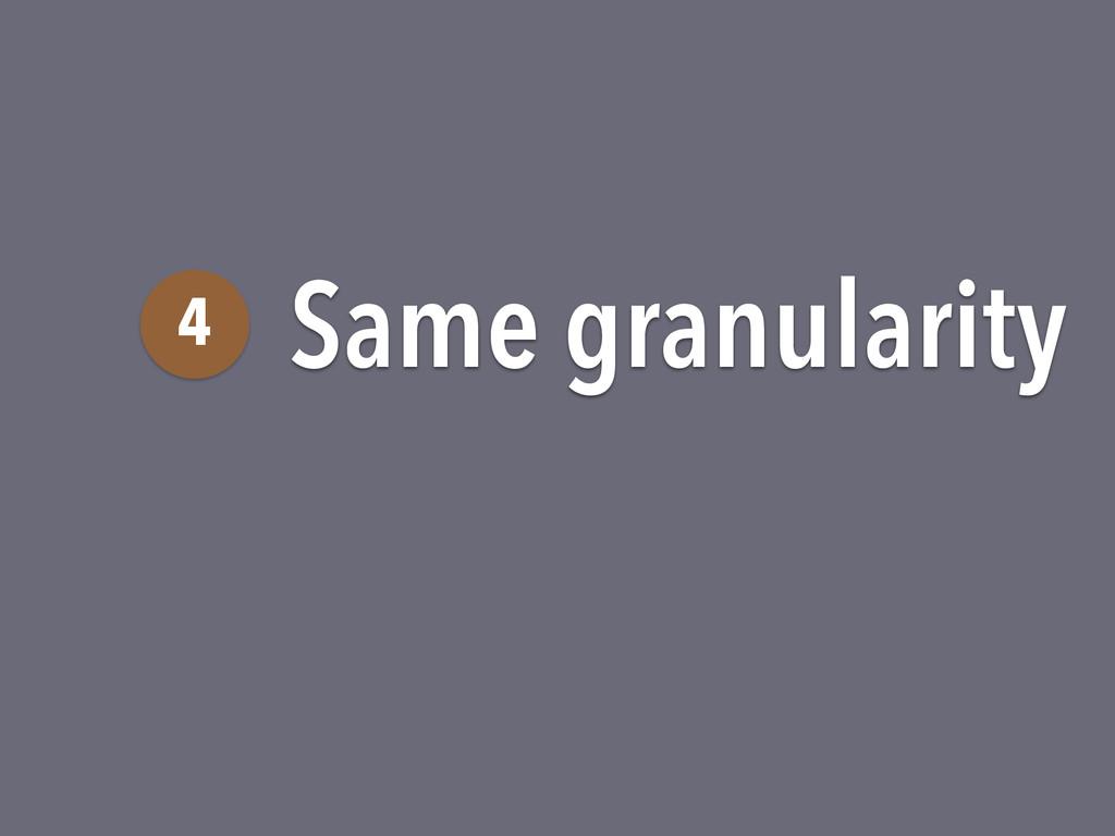 Same granularity 4