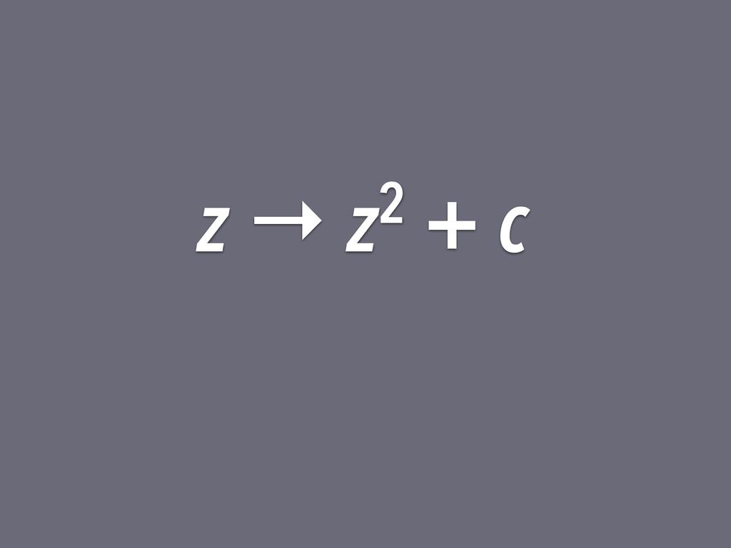 z → z2 + c