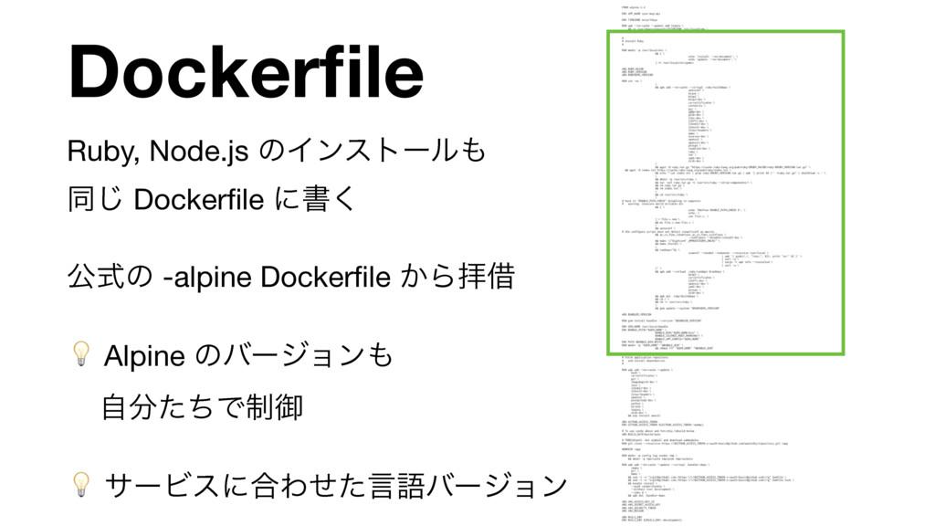 Dockerfile Ruby, Node.js ͷΠϯετʔϧ ಉ͡ Dockerfile ...
