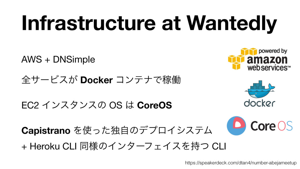 Infrastructure at Wantedly AWS + DNSimple  શαʔϏ...