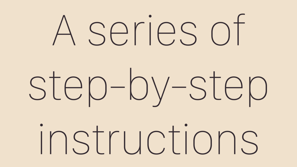 A series of step-by-step instructions