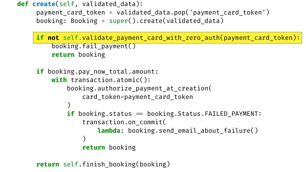 def create(self, validated_data) :  payment_car...