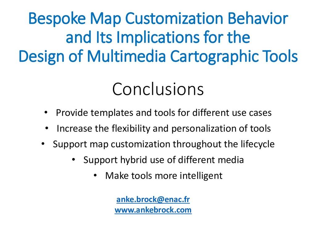 Bespoke Map Customization Behavior and Its Impl...
