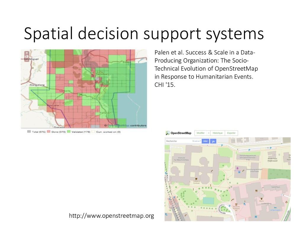 Spatial decision support systems Palen et al. S...